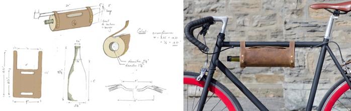 自転車に装着可能!シンプルなボトルホルダー