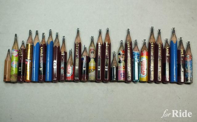 これどうやって作るの?鉛筆の芯に彫刻というミクロの世界