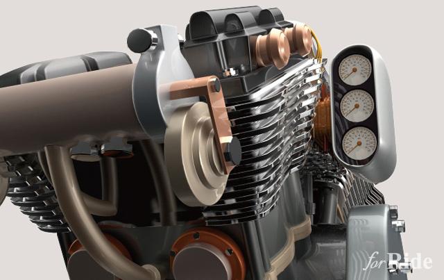 """これはワイルド!ハーレー""""V-ROD""""のエンジン型のパソコン"""