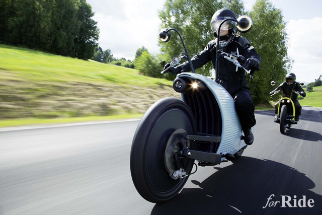 ピーナッツ?むし?なんだ…このカタツムリ電動バイクは!?