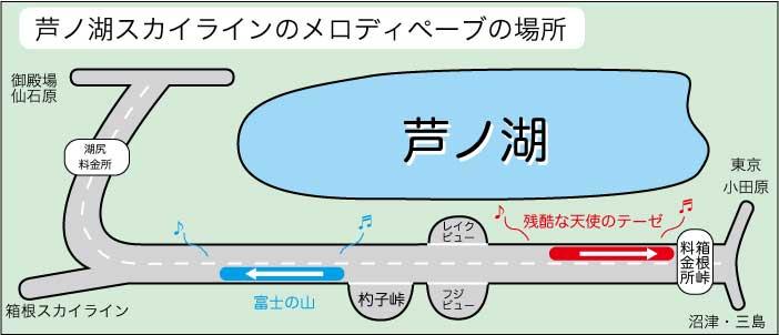 箱根・芦ノ湖スカイラインで「残酷な天使のテーゼ」のメロディーが流れる!