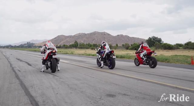BMW「S1000RR」vs Ducati「1299 PanigaleS」vs YAMAHA「YZF-R1」直線勝負!ナンバーワンは!?
