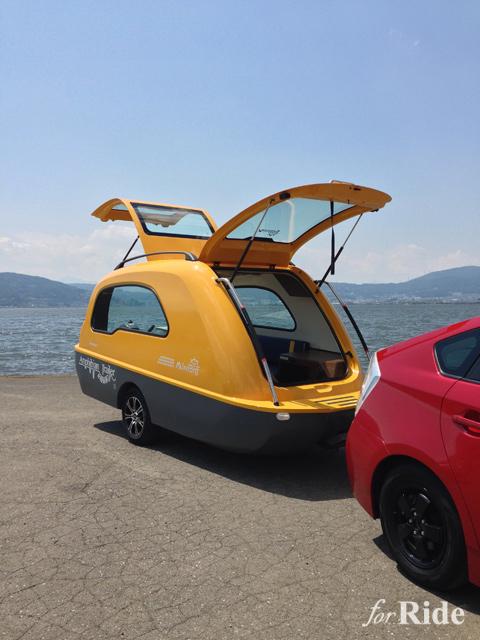 リビング&寝室を湖に浮かべるまったく新しいトレーラー出現!