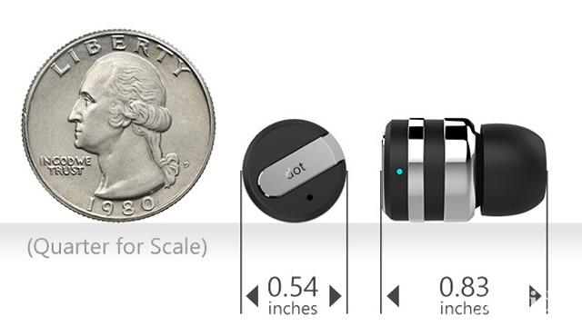 耳栓サイズの世界最小ワイヤレス&マイク内蔵イヤホン「Dot」これは欲しい!
