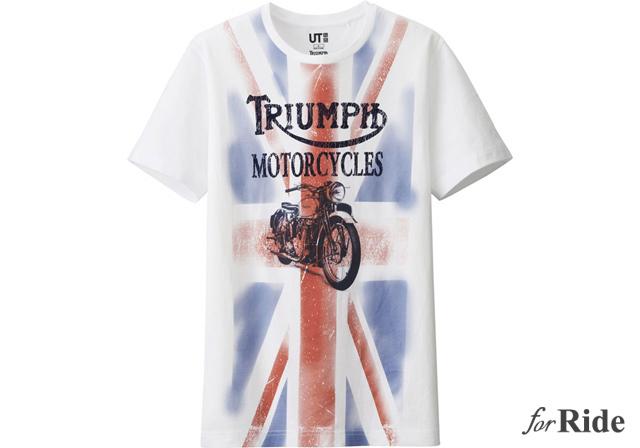 トライアンフがユニクロとTシャツでコラボレーション!