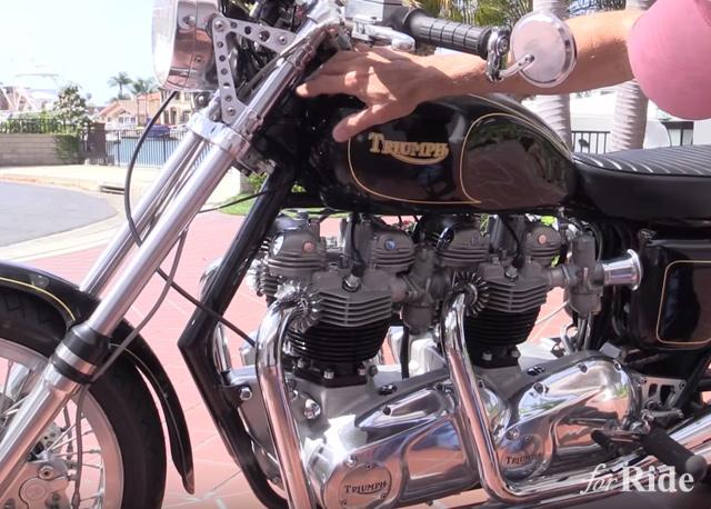 トライアンフ・ボンネビルのエンジンは2基搭載しても美しい