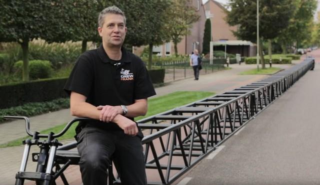 ギネス世界記録を樹立した全長35.79mの自転車