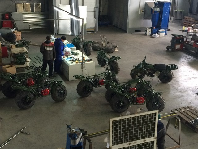 мотоциклы на заводе
