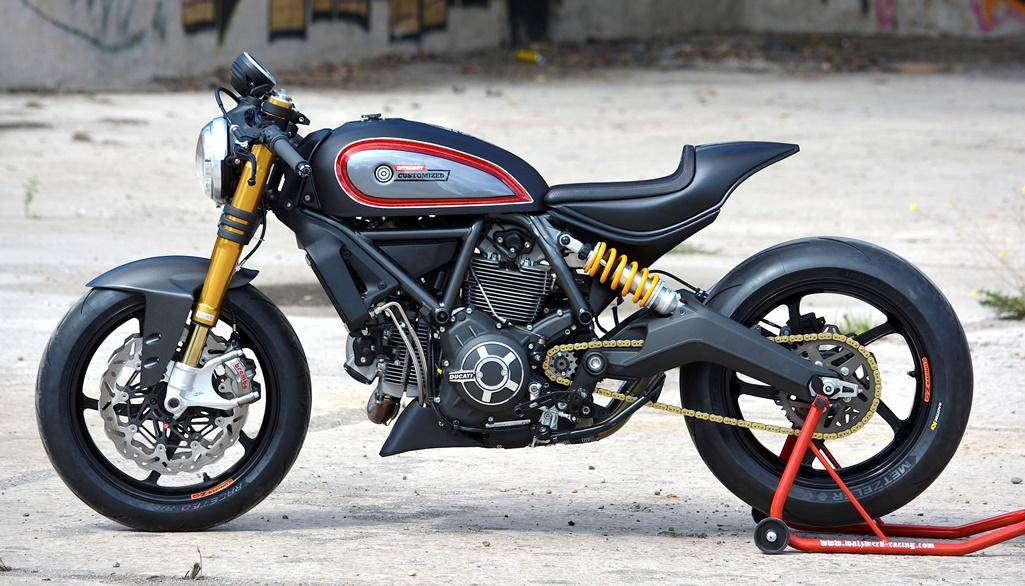 Das INTERMOT Custom Bike – die moderne Interpretation eines Roadsters auf Basis einer Ducati Scrambler, aufgebaut von Marcus Walz