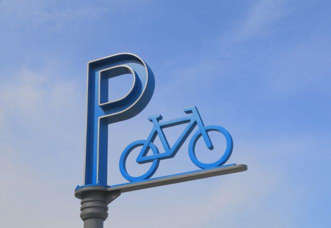 駐輪場のマーク