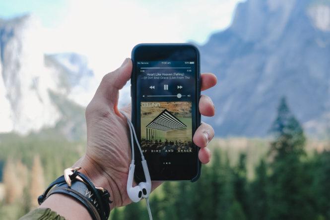 スマートフォンの音楽