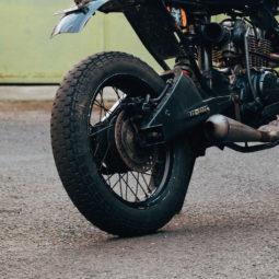 バイクの後輪