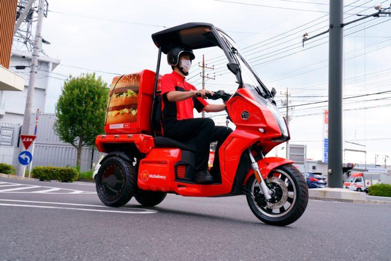 マックデリバリー aidea 電動3輪バイク